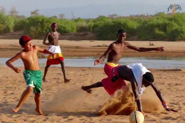 football with samburu WM